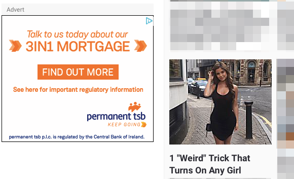Did this bank know it was going to have it's logo next to this type of content?